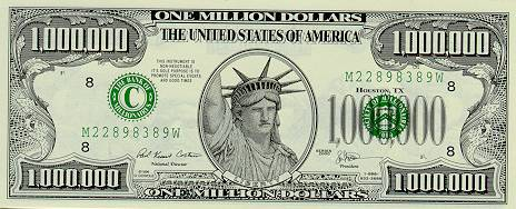Image result for million dollar bill
